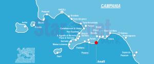 Cartina Costiera amalfitana